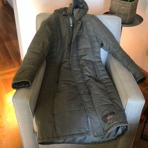 G-Star Raw Hooded Long Coat for sale